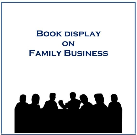 A book display on Family Business Book