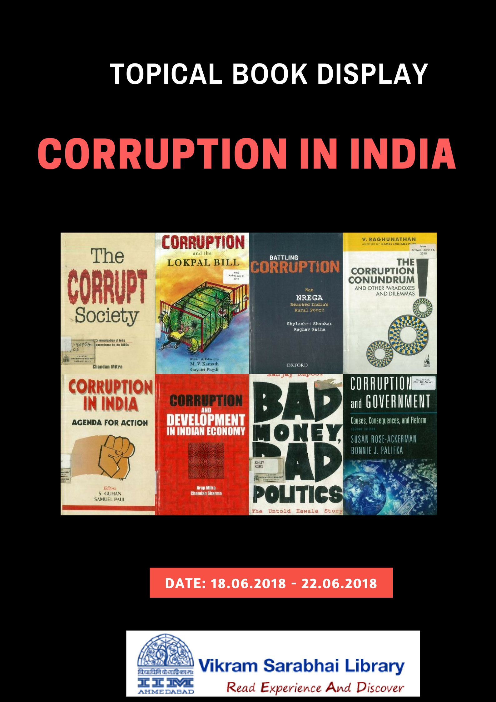 Book display on Corruption in India