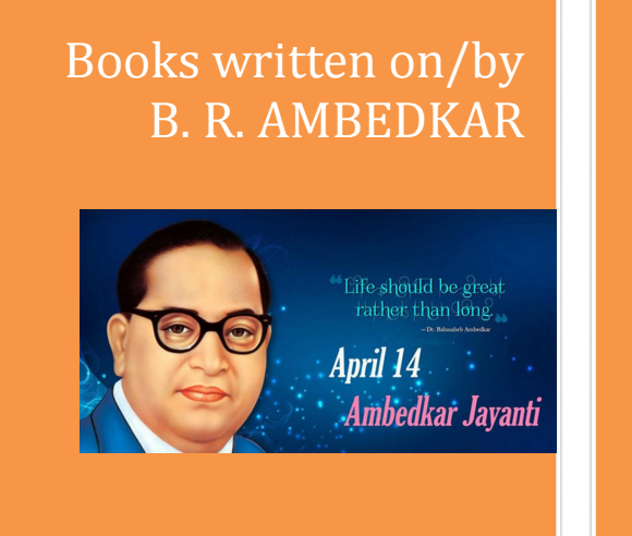 Books written on B. R. Ambedkar