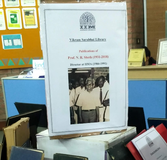 Display of Books of Professor N. R. Sheth