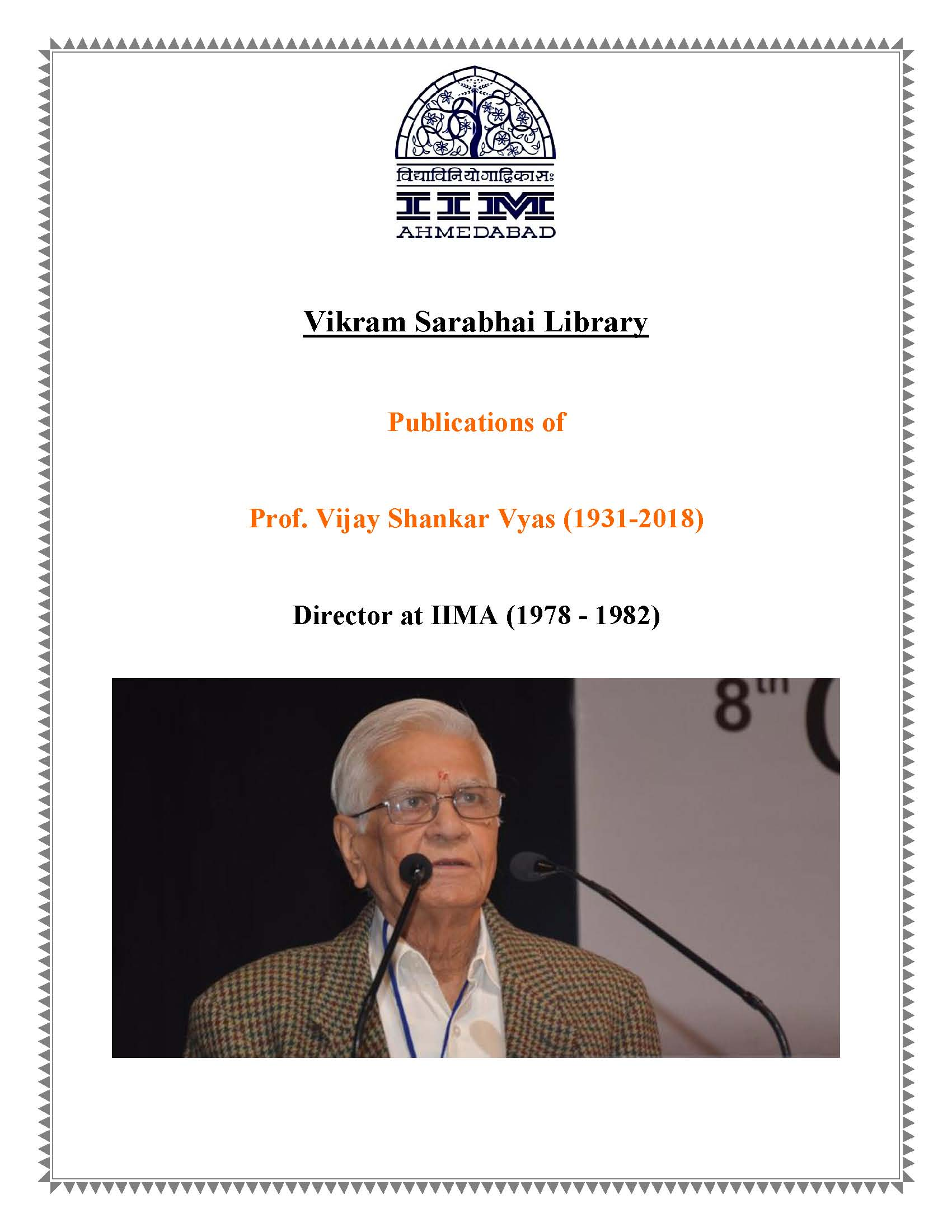 Display of Books of Professor Vijay Shankar Vyas