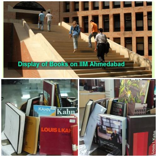 Display of books on IIMA