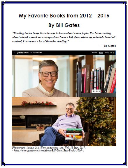 My Favorite Books from 2012 - 2016 By Bill Gates