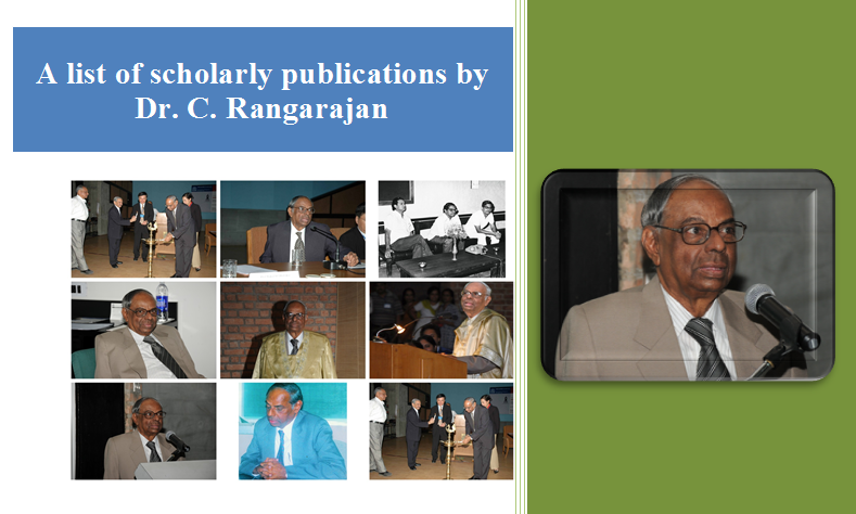 Scholarly publications by Dr. C. Rangarajan