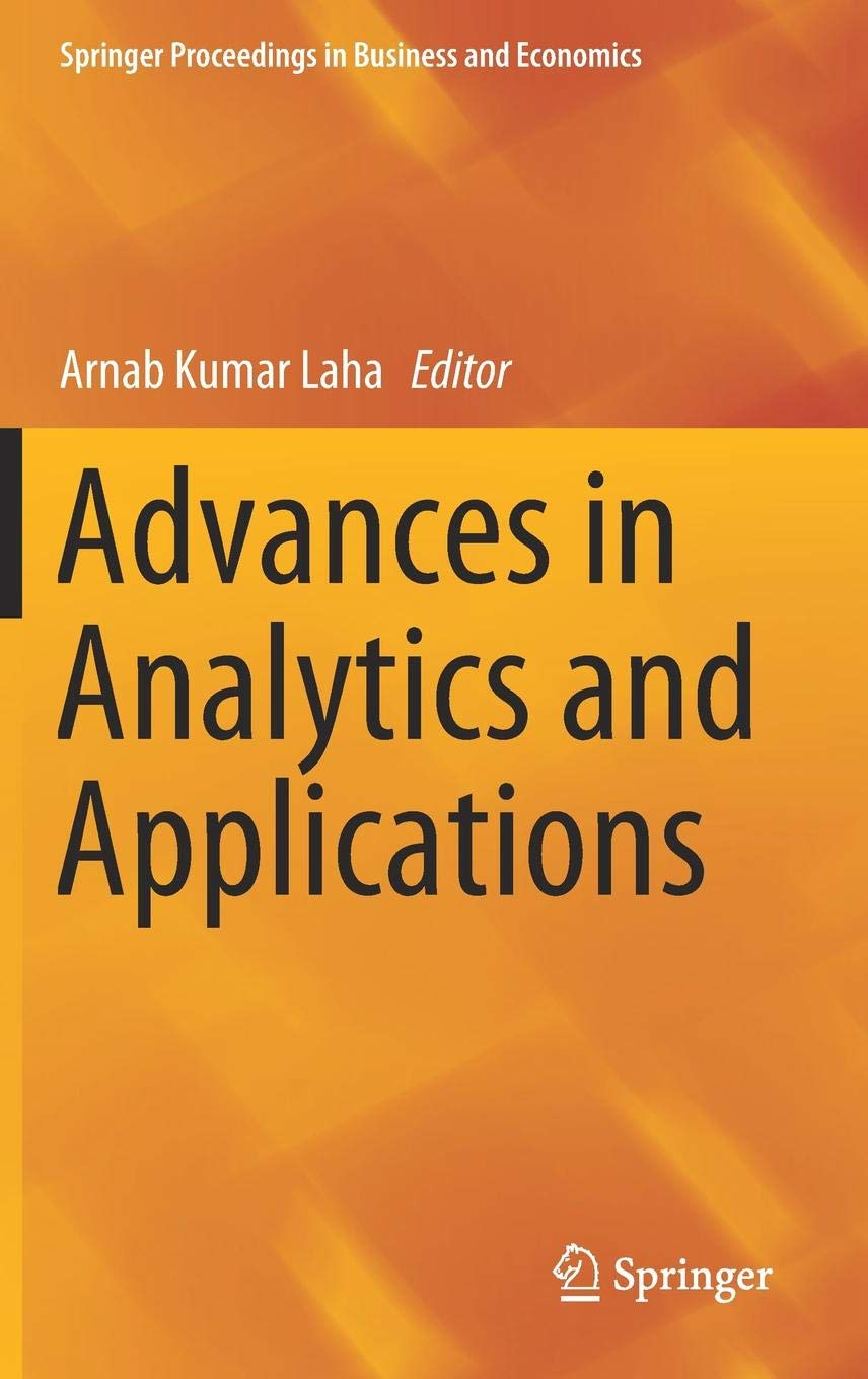 Advances in analytics and applications