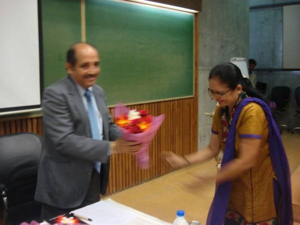 Welcome of Mr Sanjay Grover from INFORMATICS