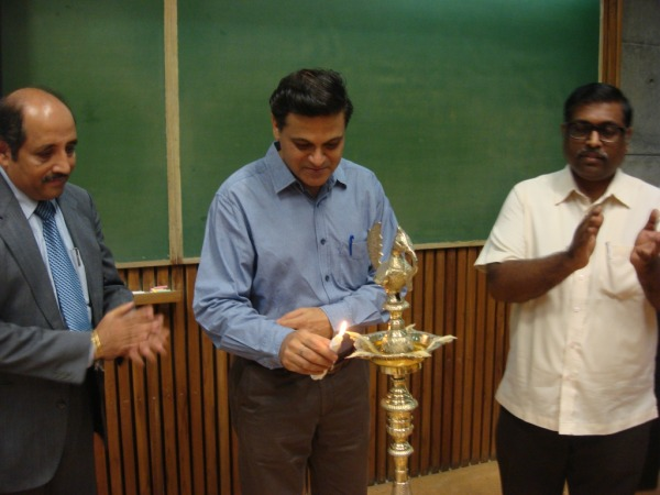 Lighting the Ceremonial Lamp by Prof Amit Gurg, IIM Ahmedabad