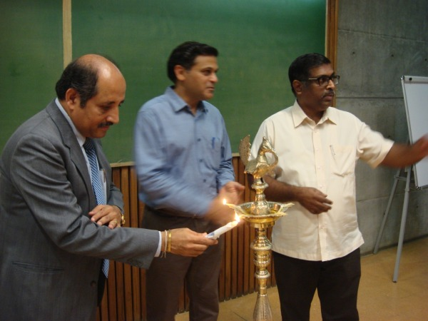 Lighting the Ceremonial Lamp by Mr Sanjay Grover