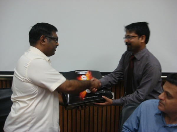 Welcome of Dr H Anilkumar by INFORMATICS
