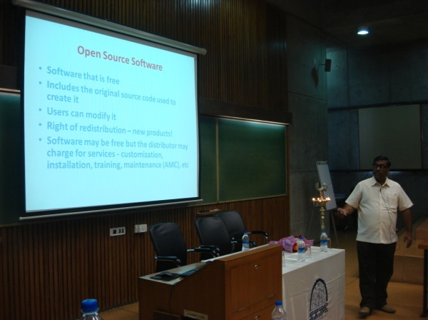 Dr H Anilkumar Presentation of Opensource Software