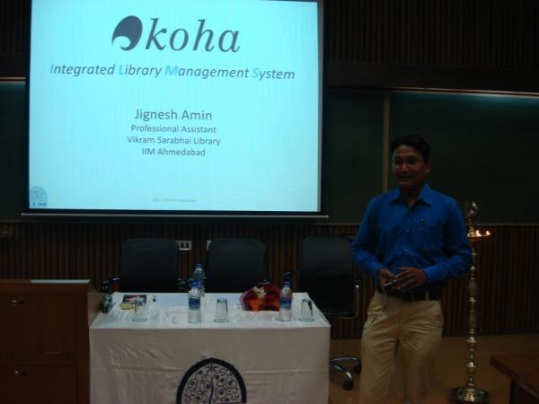Koha Customization @ IIMA by Mr Jignesh Amin, Professional Asst