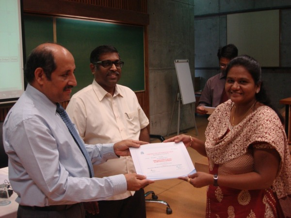 Certificate distribution to participant