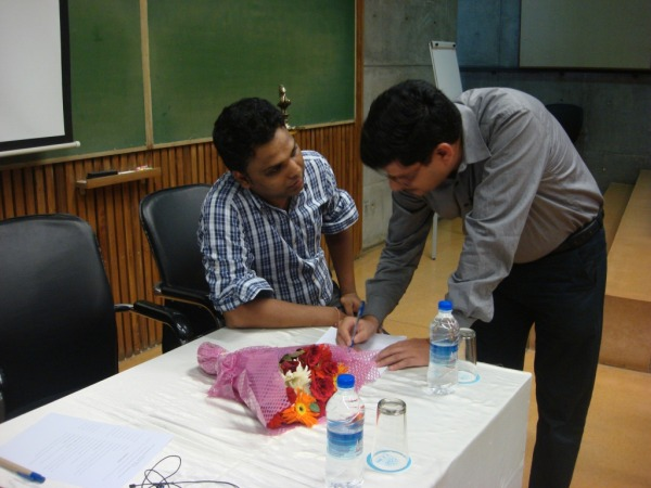 Discussion session during workshop