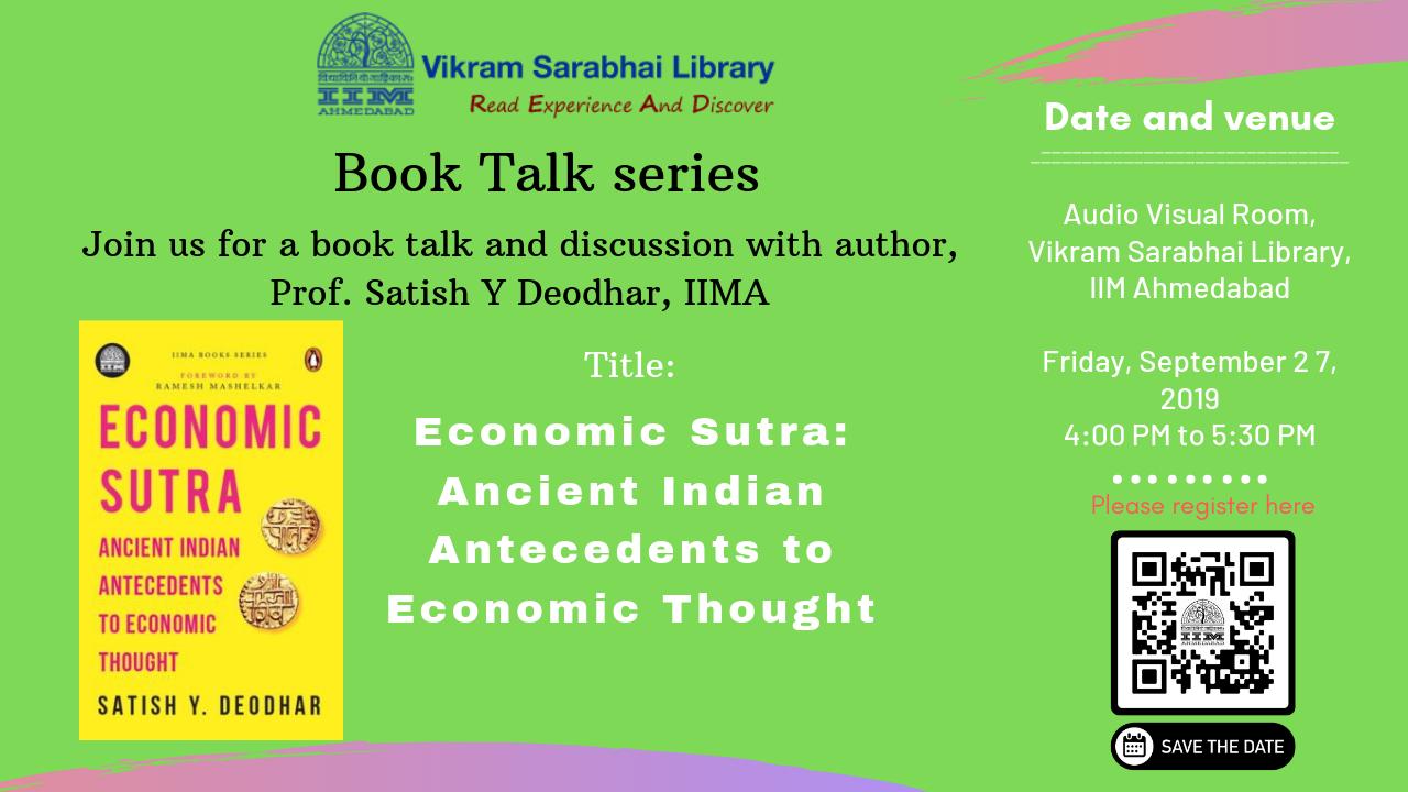 Book Talk by Prof. Satish Deodhar