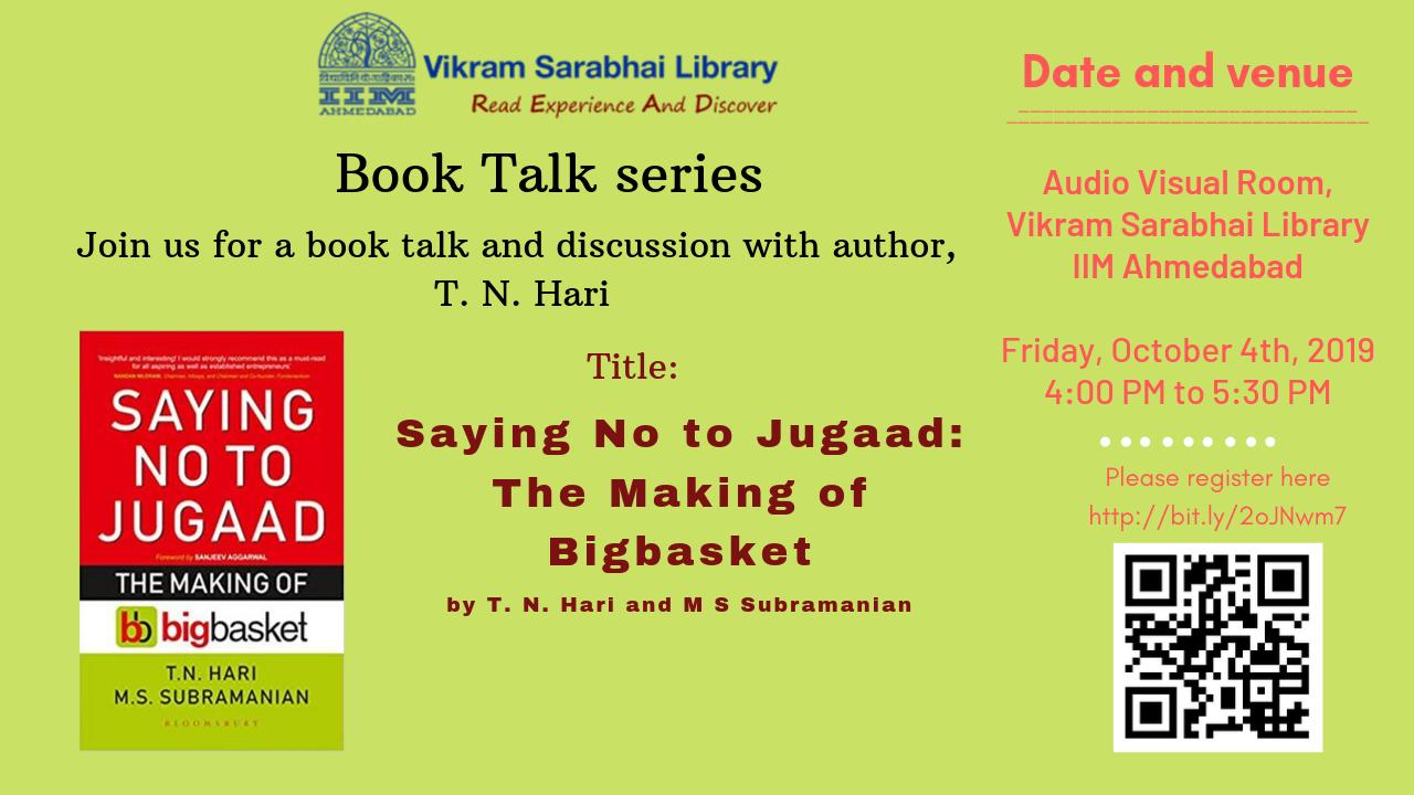 Book Talk by Mr. T. N. Hari