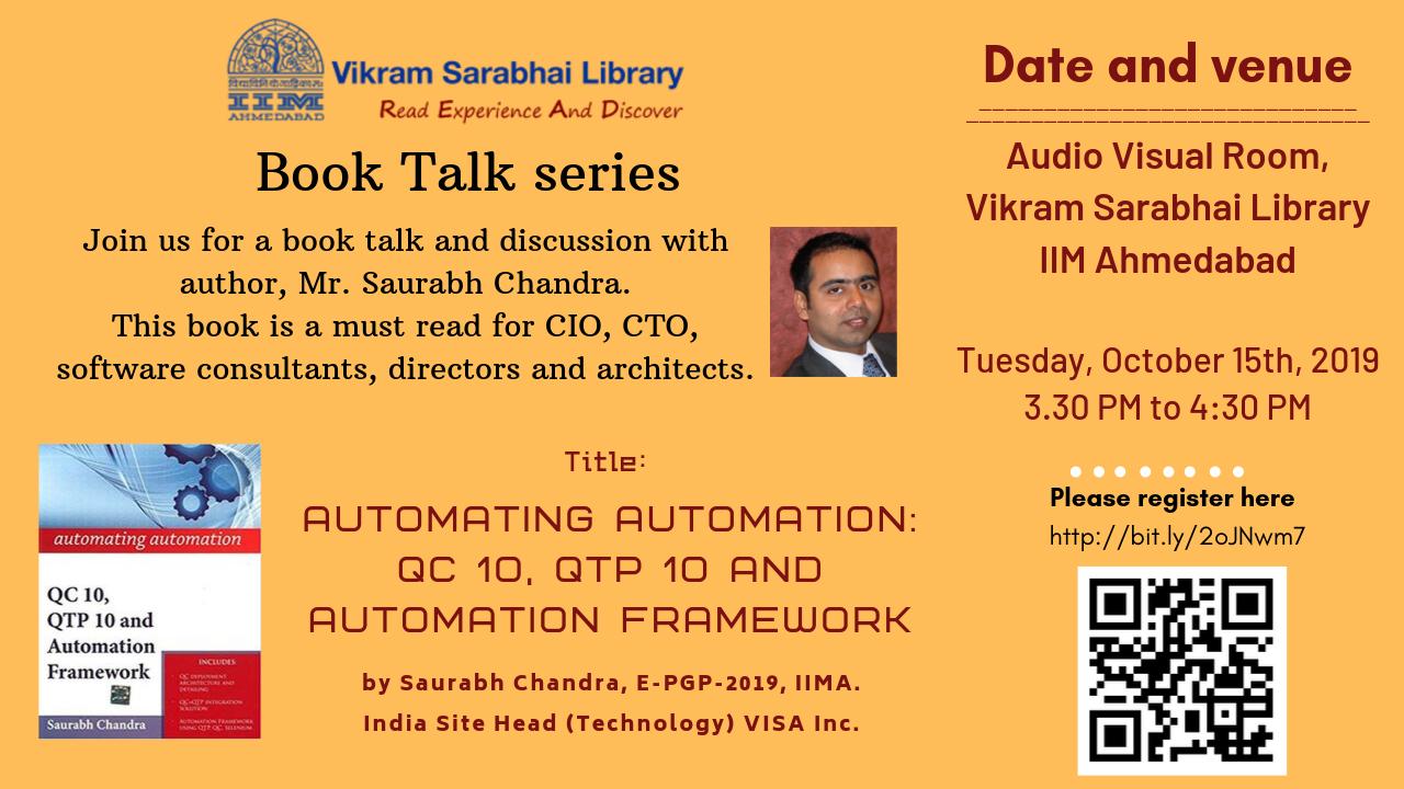 A book talk by Mr Saurabh Chandra