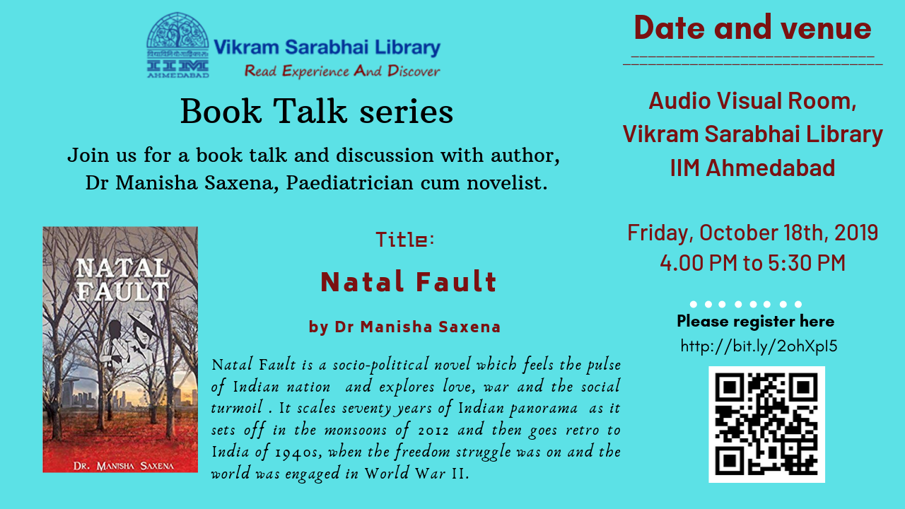 A Book Talk by Dr Manisha Saxena