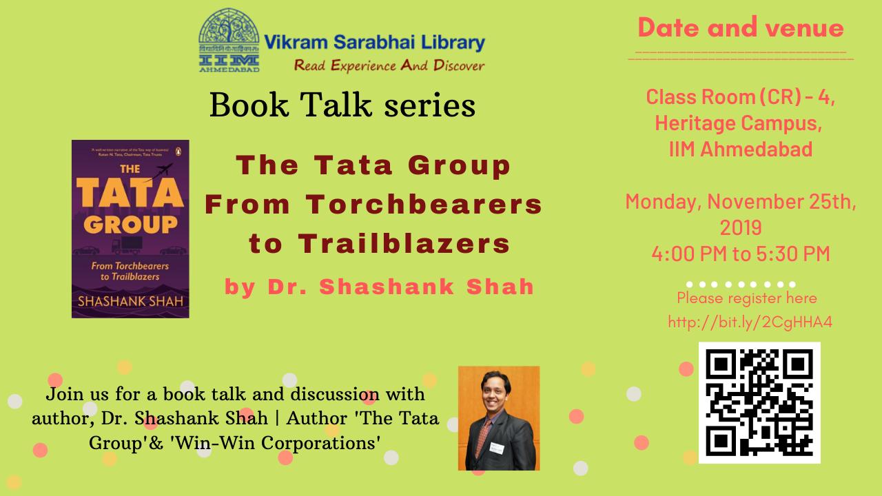 A Book Talk by Dr Shashank Shah