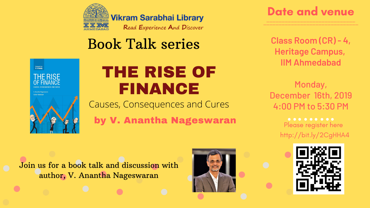 A Book Talk by Dr V Anantha Nageswaran
