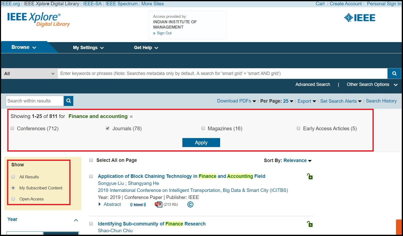 Open IEEE Xplore then Select Journal and Magazines and Search for Required Subject
